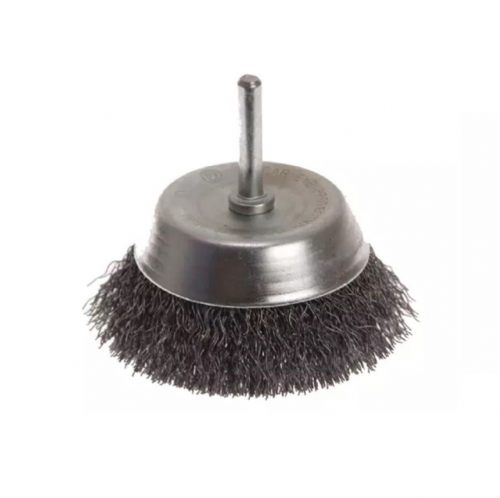 Faithfull FAIWBS75 Crimped Steel Wire Cup Brush 75mm x 6mm Shank